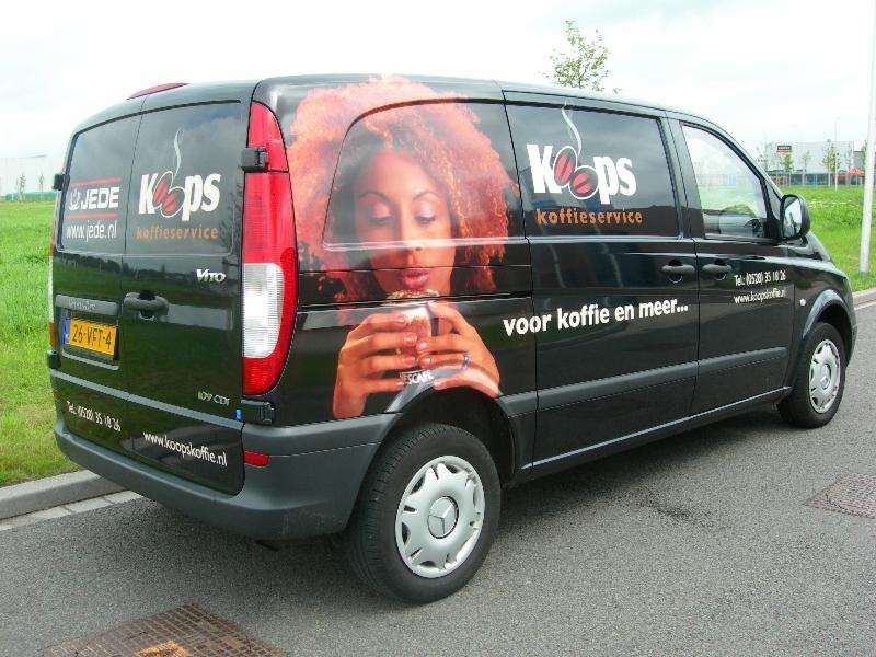 Koops Koffie service reclame auto