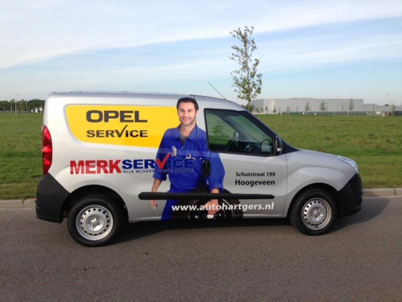 Opel Hartgers Autoreclame