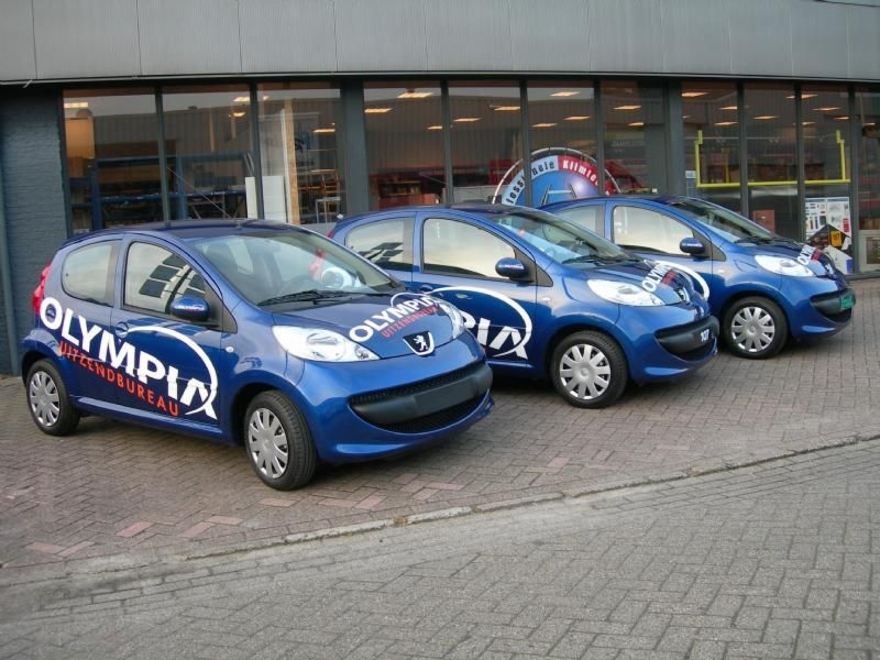 Olympia belettering autos