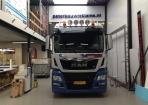 Vrachtwagen pol Hoogeveen belettering