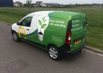 E-solarlight wrapping car met reclame