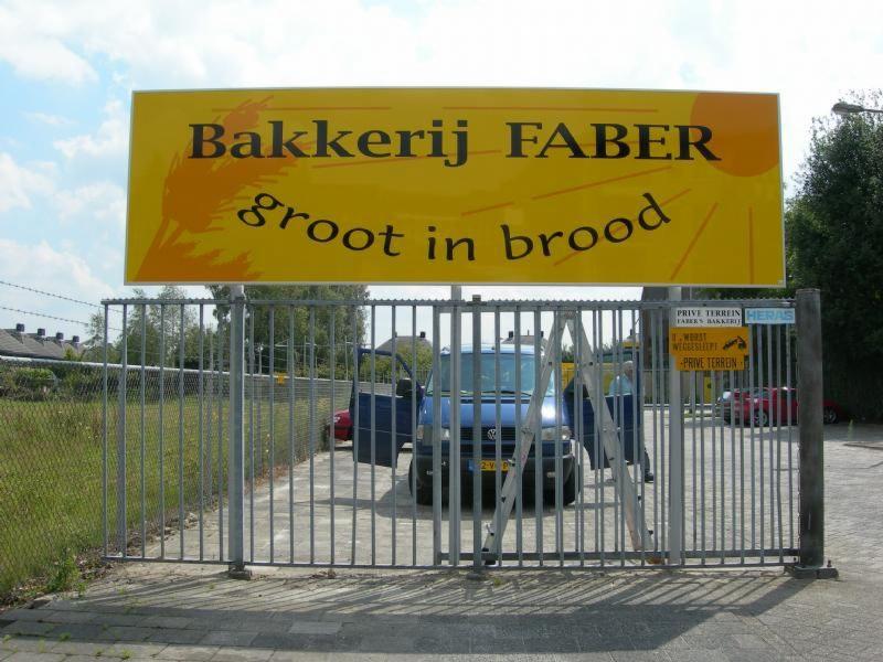 Bakkerij Faber welkomsbord