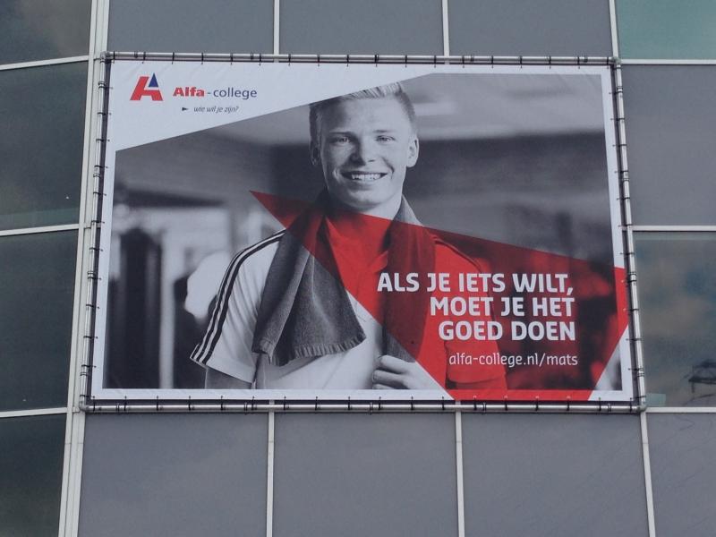 Alfa-College spandoeken in buisframe