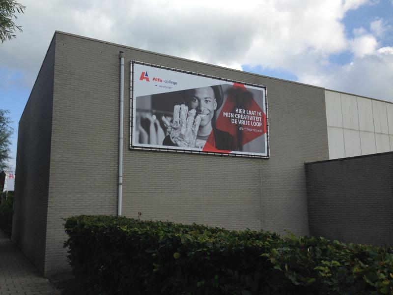 Alfa-College Groningen Spandoek in buisframe