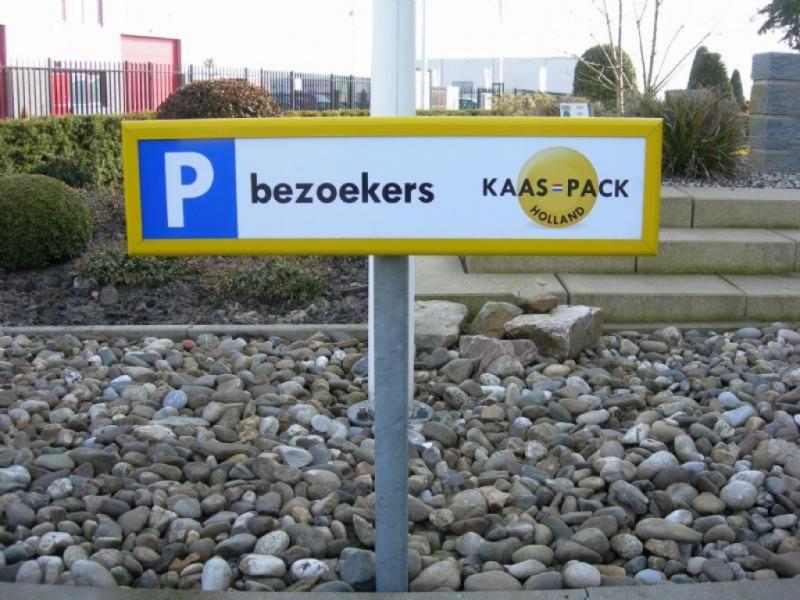 Kaaspack parkeerbordjes