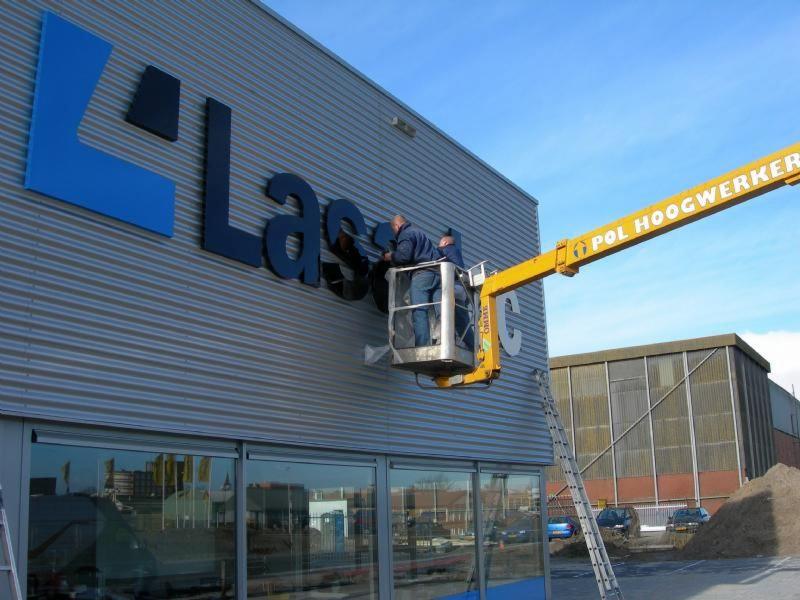Lasaulec Leeuwarden gevelbelettering