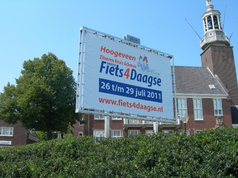 fiets4daagse reclame gemeente hoogeveen
