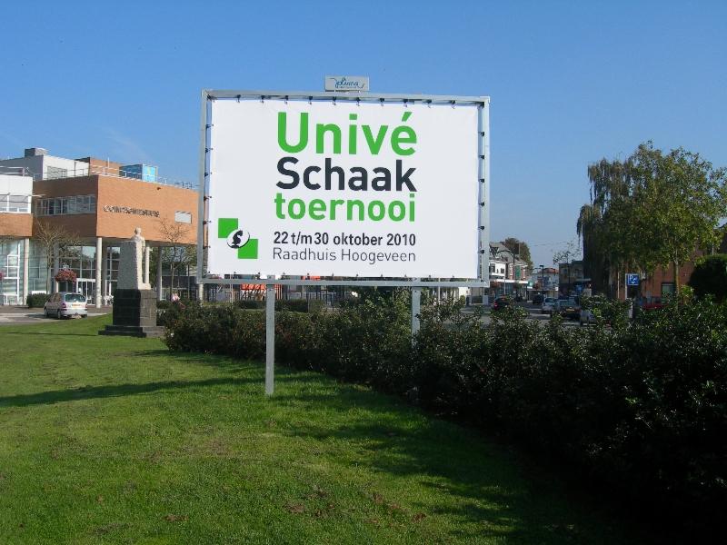 Schaaktoernooi Hoogeveen Spandoek reclame