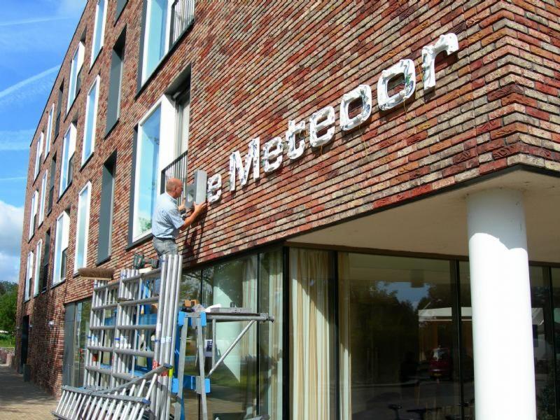 De meteoor Hoogeveen lichtreclame
