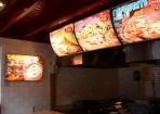 Lichtgevend menukaart hoogeveen snackbar indoor