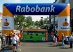 Rabobank boog tijdens evenementen plaatsing