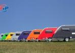Gekleurde kip caravans