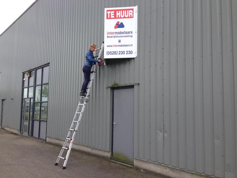 V-bord montage op ladder lichtgewicht