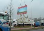 Verhuizing transport bouwbord