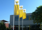 Hoge attentie waarde Kaaspack banier vlaggen