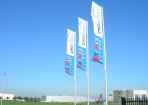 Prolution Banier vlaggen op rij hoge attentiewaarde