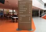 Zuil indoor Roelof van Echten College Houtlook